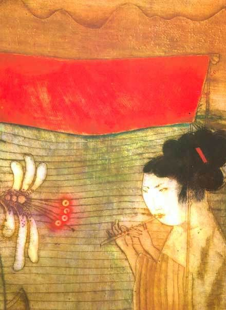 "chinese fairy tales - eva bednarova  ""I cannot tell what the medium is. They look like monoprints or lithographs on fine paper, or paintings on silk???"""