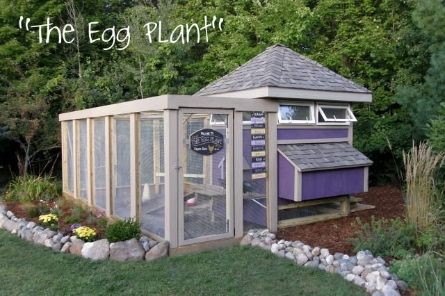 very cool chicken coop - lot's of picsBackyard Chickens, Chicken Coops Eggs Plants, Backyards Chicken Coops, Hens House, Gardens, Eggplants Chicken Coops, Chicken Houses, The Eggs Plants Chicken Coops, Coops Ideas