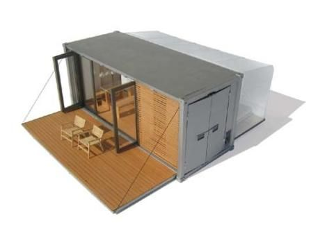The All Terrain Cabin (ATC) By BARK.  Small scaled prefab shipping container green home architecture design.