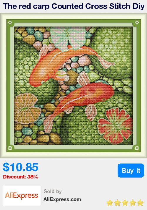 The red carp Counted Cross Stitch Diy 11CT 14CT Cross Stitch Set Wholesale Cross-stitch Kits Embroidery Needlework WF489 * Pub Date: 11:51 Jul 7 2017