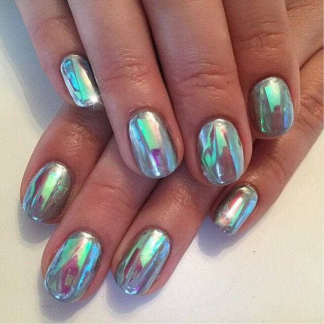 """chrome sweet chrome for the lovely @brittanilouisetaylorpics ✨"" by sohotrightnail on Instagram"