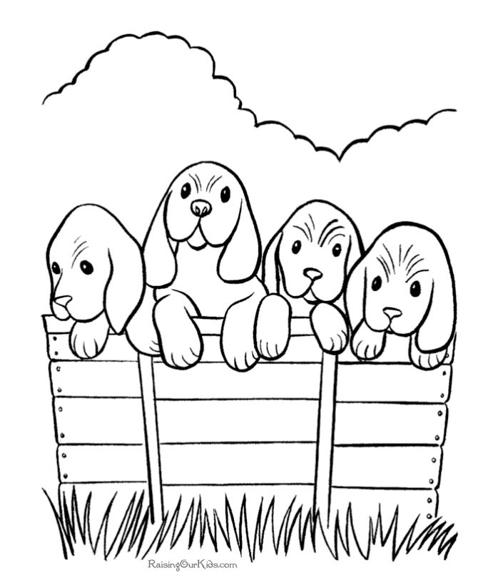 Free Printable Dogs Coloring Page