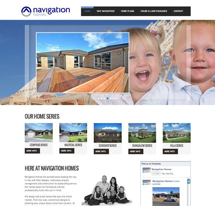 Navigation Homes wordpress website. http://www.navigationhomes.co.nz/ #webdesign #wordpress #responsive