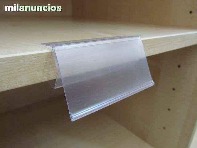 Porta Precios Para Madera Cristal O Adhesivo Para