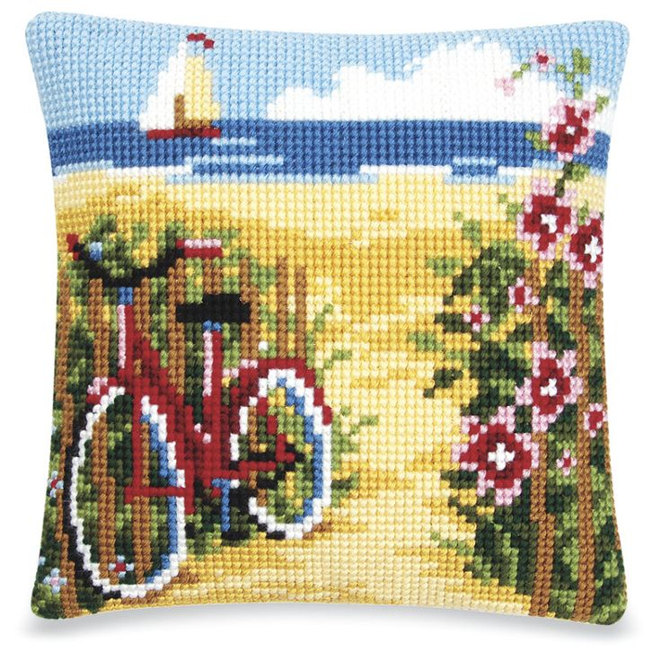 Intellectual Cats Quickpoint Pillow Top - Cross Stitch, Needlepoint, Embroidery Kits – Tools and Supplies
