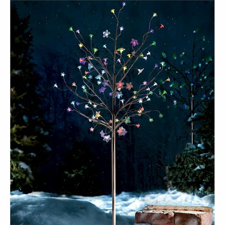 Outdoor Lighted Blossom Tree From Wind U0026 Weather