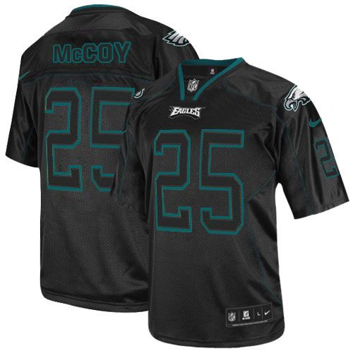 ... game replica nfl green 2a383 6a212  low price mens nike philadelphia  eagles 25 lesean mccoy elite lights out black jersey 129.99 12e5e 0e05f276d