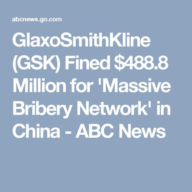 GlaxoSmithKline (GSK) Fined $488.8 Million for 'Massive Bribery Network' in China - ABC News