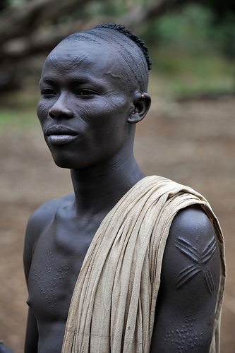 Kachipo young boy with scarifications and typical hairdress | Flickr - Photo Sharing!