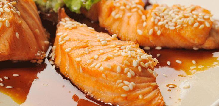 Salmone in salsa Teriyaki - LEITV