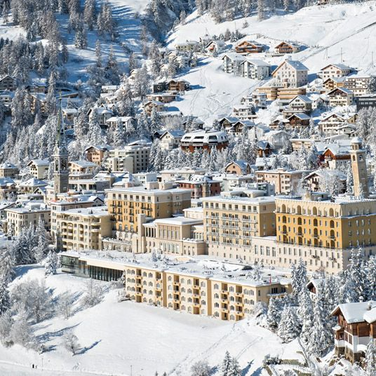 Kulm Hotel St. Moritz, Switzerland. Obviously St. Moritz has a lot to recommend it as a ski town, and in winter this place is a paradise. Modern resorts run all four seasons now though, and the Kulm is no different. if it's not the ski slopes, it's the lake, the golf courses and the alpine trails — and neither the Kulm's spa and wellness center nor its handful of upscale restaurants depend on any particular weather.