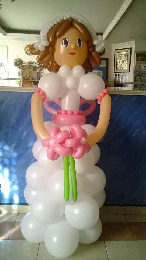 Primera comunión muñeca de globos