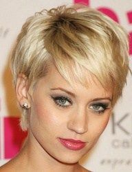 Coupe courte pour femme : A Short Hairstyle for Every Face Shape. Kimberly Wyatt oblong face wispy pixie h