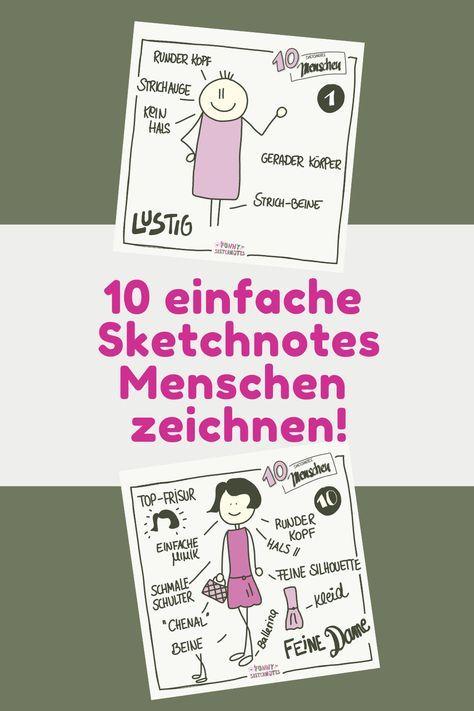 Mit Sketchnotes Menschen zeichnen ist sooo einfach…