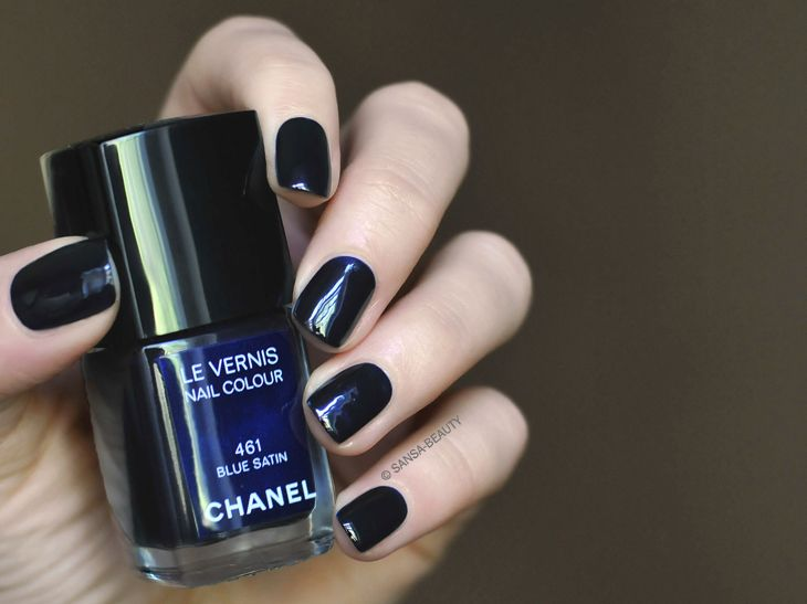 Chanel Nail Polish Blue Satin no 461