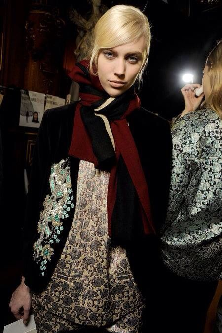 pattern on pattern. .Dries Van Noten