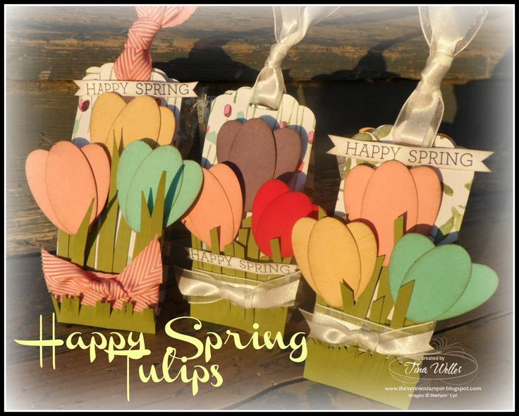 Happy Spring Tulips Gift Holder