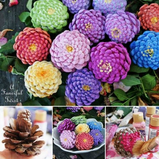 Pine Cone Zinnia's http://thewhoot.com.au/whoot-news/crafty-corner/pine-cone-flowers?omhide=true