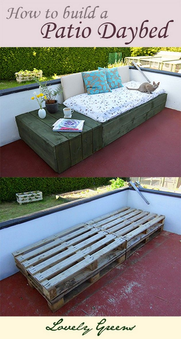 How to build a daybed from pallets Repurposed & Made Better   Vitamin-Ha