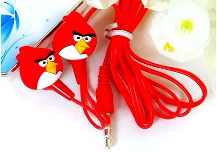 Наушники вакуумные Angry Birds красные