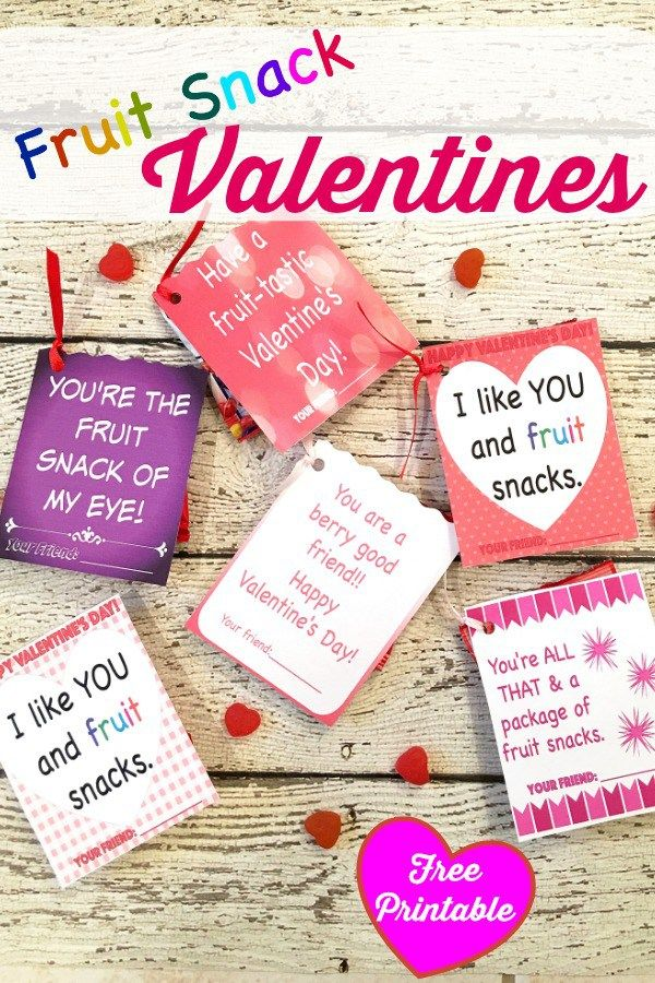 It's time to spread the love with these FREE Printable Valentine Cards!! If you have a fruit snack loving kid, you're going to LOVE these printables!