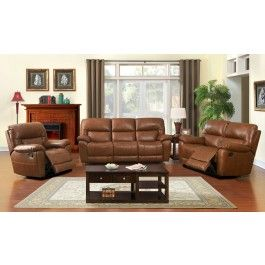 Javier Top Grain Leather Recliner Sofa Part 54