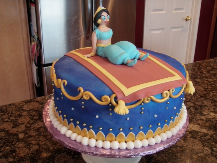 Princess Jasmine cake (obviously have real doll instead of this crap)