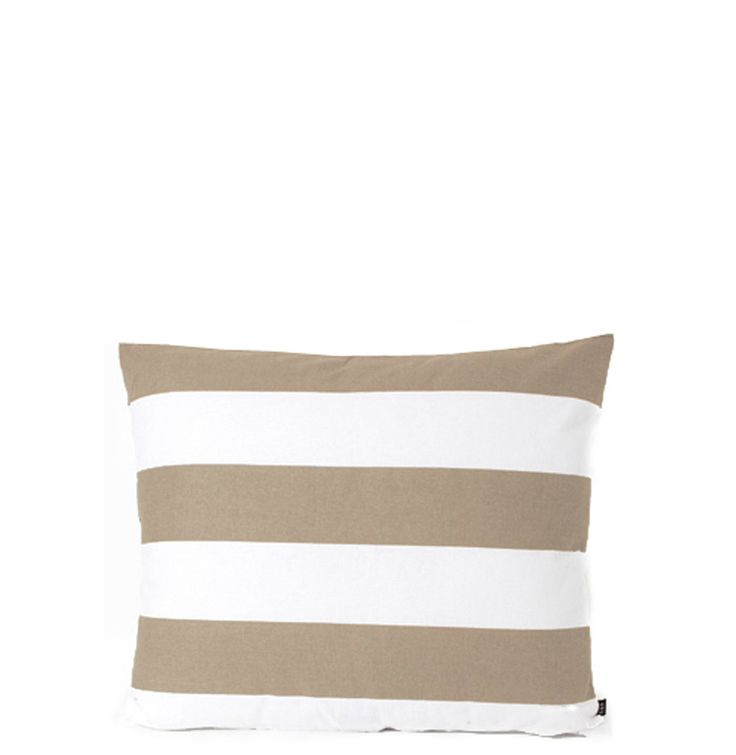 Summer Range Cushion - Taupe White Stripes