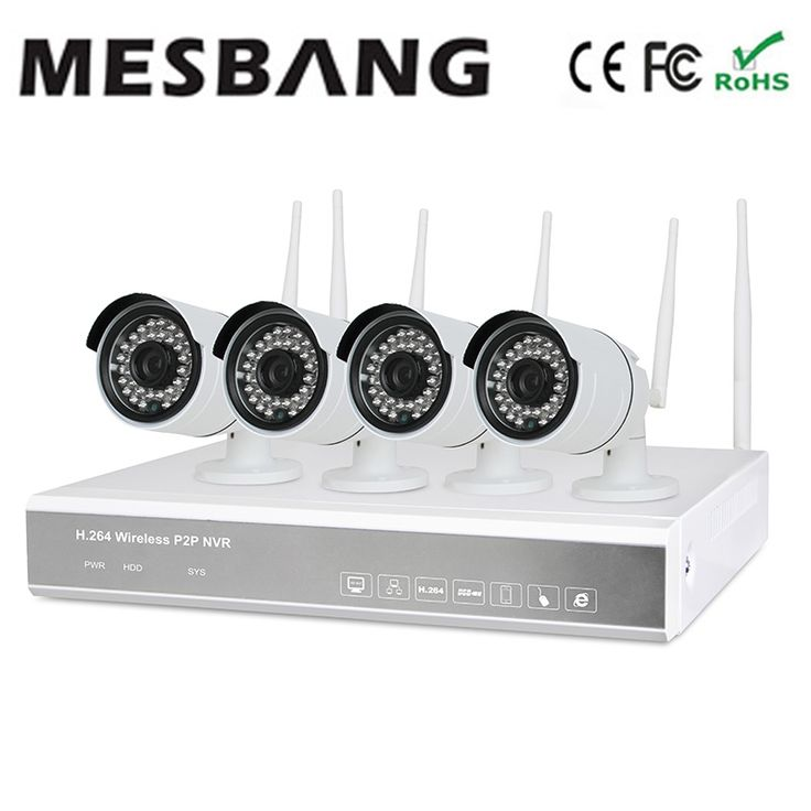 273.00$  Buy here - http://aizrh.worlditems.win/all/product.php?id=32691804197 - Mesbang 720P 4ch  cameras ip wifi nvr system kits with 1TB HDD one key to set up easy installation free shipping fast