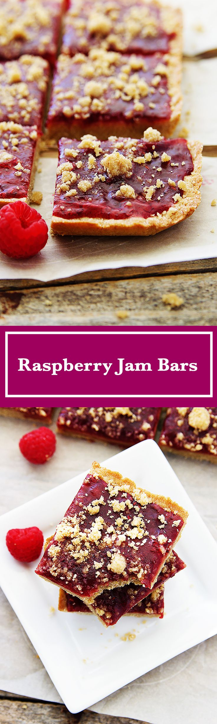 Hot and gooey right out of the oven, Raspberry Jam Bars are delicious.