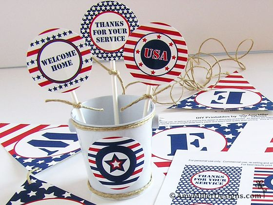 FREE Military Welcome Home Party Printables