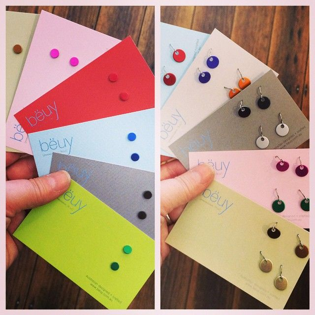 http://littleshopof.bigcartel.com/category/super-cute-earrings  New Melbourne Maker Alert: bëuy stunning petite studs and dangle duos made from anodized aluminum. $39 for 2 pack of dangles and $16.95 for studs. A small and thoughtful Valentines gift idea  #bëuy #littleshopcarnegie #carnegiemainstreet #shoppinginstoreisthenewblack #keeprealshopsreal