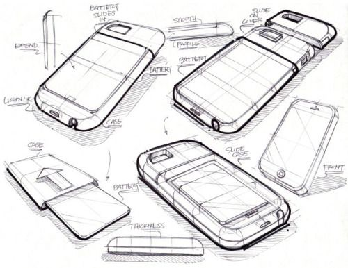 Industrial design: good Sketch style, phone