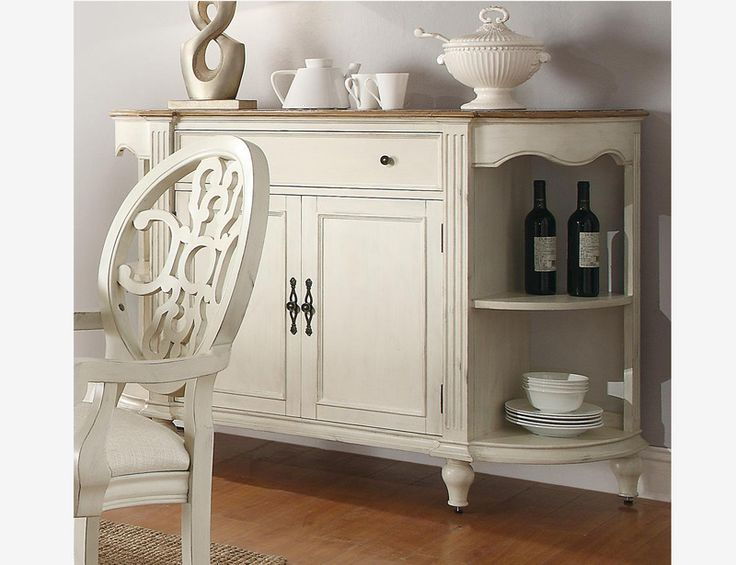Coaster 104245 Country Antique White Oak Wood Dining