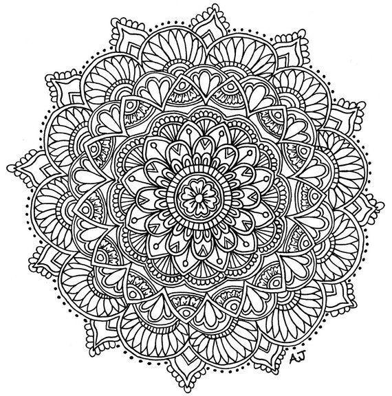 Image 0 Tuschezeichnungen Mandala Zum Ausdrucken Ausmalbilder