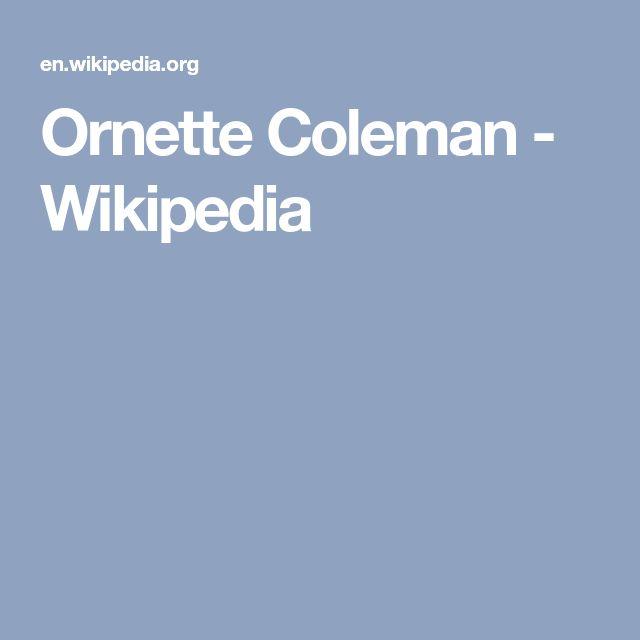 Ornette Coleman - Wikipedia