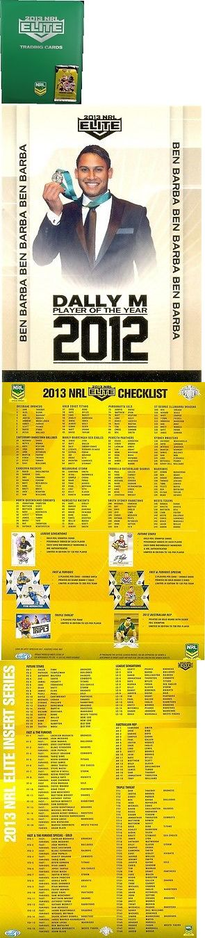 Rugby League NRL Cards 25583: 2013 Nrl Esp Elite Album,Pages,Card,Packet,Flyer -> BUY IT NOW ONLY: $39.99 on eBay!