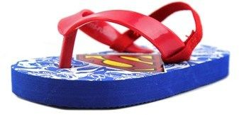 DC Comics Dc Comics Superman Toddler Open Toe Synthetic Blue Flip Flop Sandal.