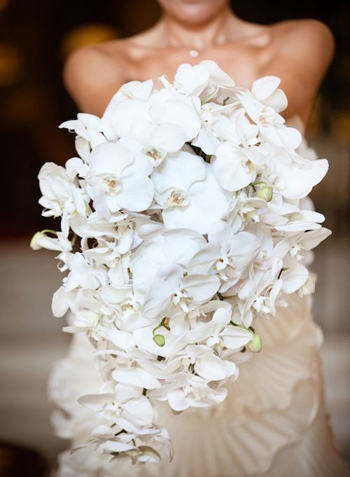 Ramo de novia con caída de orquídeas Phalaenopsis :: Phalaenopsis orchids cascading bouquet
