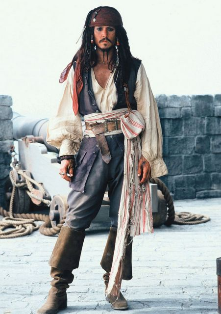 """Johnny Depp as Captain Jack Sparrow in """"Pirates Of The Caribbean: Curse Of The Black Pearl"""" (2003). Directed by Gore Verbinski.Featuring: Johnny DeppWhen: 30 Jan 2013Credit: WENN.com**Only available for publication in UK, USA**"""