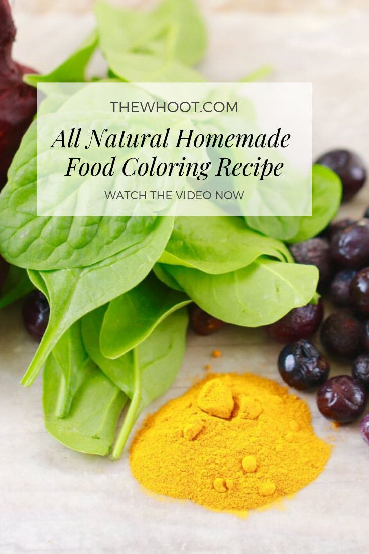 All Natural Homemade Food Coloring | Recipe | ♥ DIY ♥ | Food ...