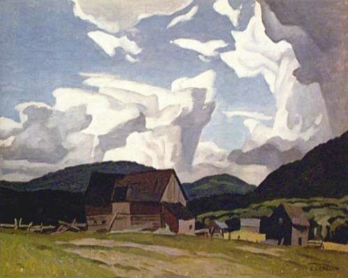 CASSON, A.J. - Canadian artist (1898-1992): -- 'Northern Farm'.