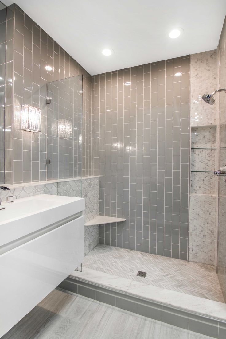 Simple And Elegant Bathroom Shower Tile