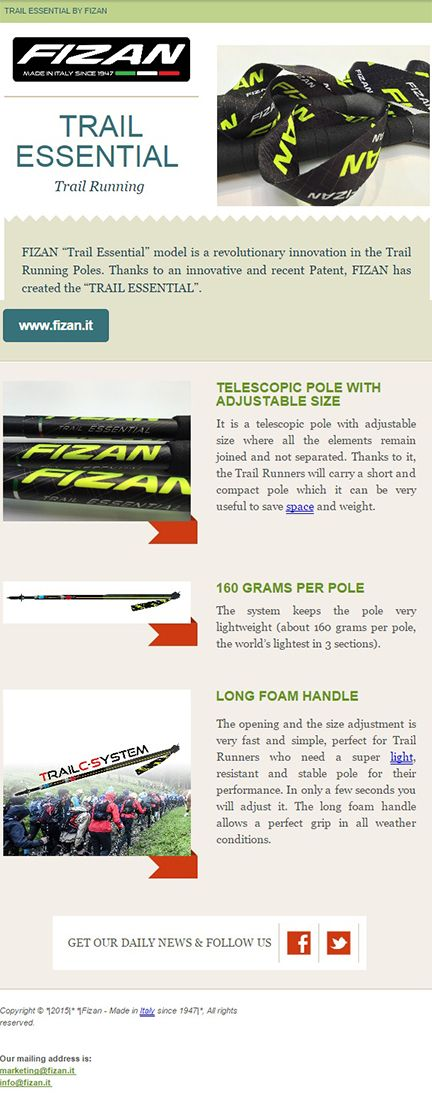 Fizan has created a specific pole for #trailrunning Do you want to find out all the advantages? www.fizan.it #fizan