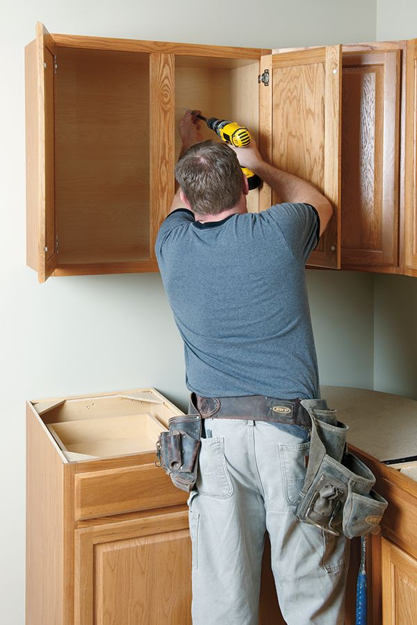 How To Install Wall Kitchen Cabinets Wall Cabinet Installing Cabinets Mobile Home Renovations