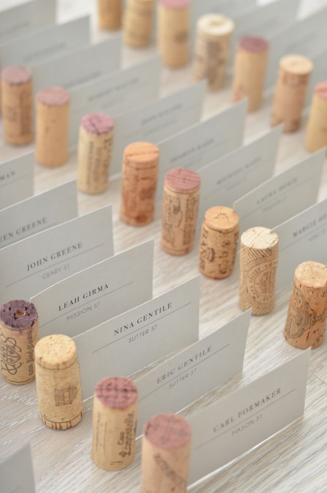 wine cork escort cards // thestylesafari.com