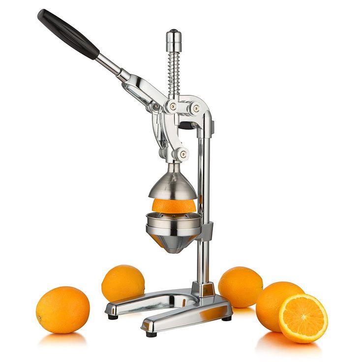 """ZELSIUS Saftpresse """"Valencia"""" Professionelle Hebel Zitruspresse, Entsafter, Premium Obstpresse für Orangen, Zitronen, Granatäpfel, und vieles mehr: Amazon.de: Küche & Haushalt"""