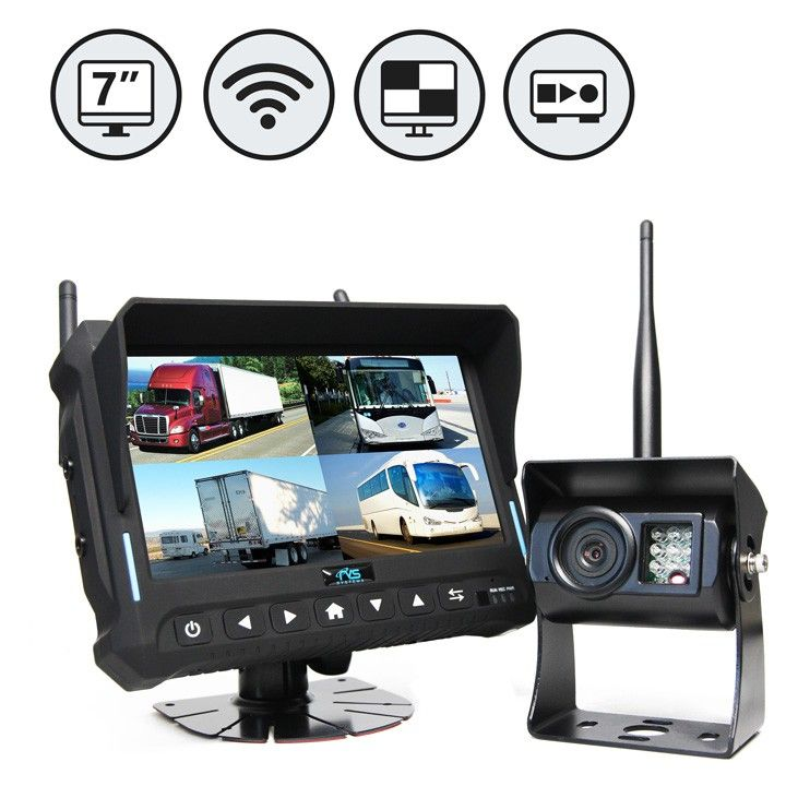 Rear View Safety Quad View Wireless Backup Camera System RVS-4CAM
