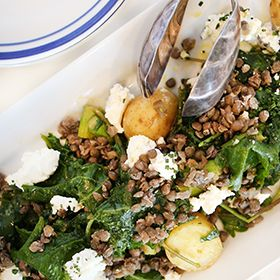 Warm Lentil Salad, a recipe from the ATCO Blue Flame Kitchen.