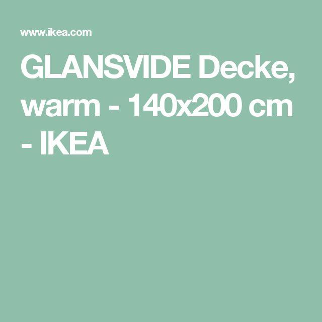 GLANSVIDE Decke, warm - 140x200 cm  - IKEA